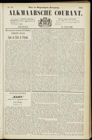 Alkmaarsche Courant 1892-01-31