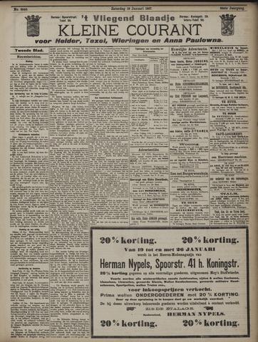 Vliegend blaadje : nieuws- en advertentiebode voor Den Helder 1907-01-19