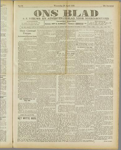 Ons Blad : katholiek nieuwsblad voor N-H 1920-04-28