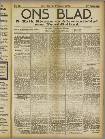 Ons Blad : katholiek nieuwsblad voor N-H 1908-02-29