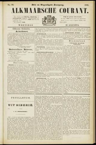 Alkmaarsche Courant 1891-08-19