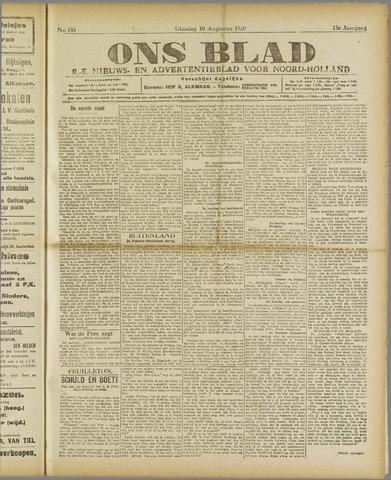Ons Blad : katholiek nieuwsblad voor N-H 1920-08-10