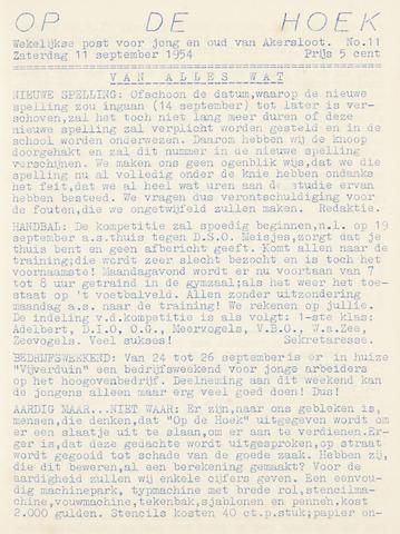 Op De Hoek, weekblad voor Akersloot 1954-09-11