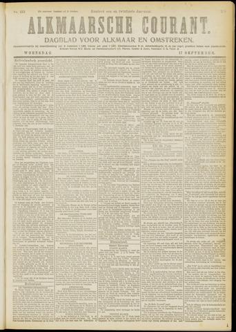 Alkmaarsche Courant 1919-09-17