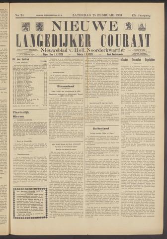 Nieuwe Langedijker Courant 1933-02-25