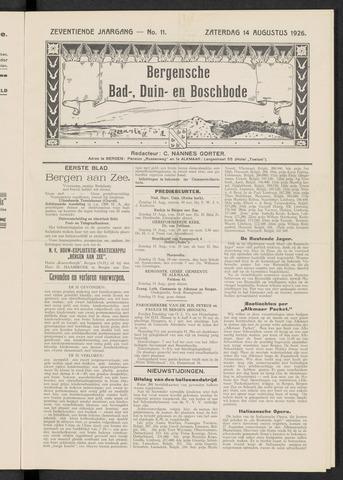 Bergensche bad-, duin- en boschbode 1926-08-14