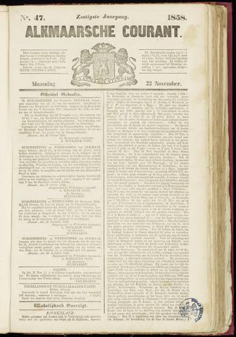 Alkmaarsche Courant 1858-11-22