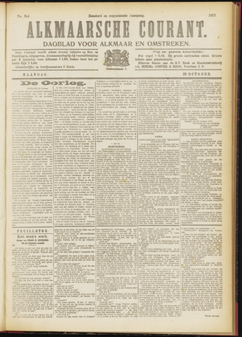 Alkmaarsche Courant 1917-10-29