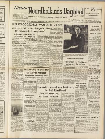 Nieuw Noordhollandsch Dagblad : voor Alkmaar en omgeving 1949-12-24
