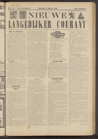 Nieuwe Langedijker Courant 1926-03-09