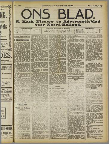 Ons Blad : katholiek nieuwsblad voor N-H 1910-11-12
