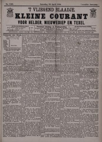 Vliegend blaadje : nieuws- en advertentiebode voor Den Helder 1884-04-19