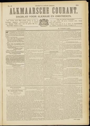 Alkmaarsche Courant 1914-02-24