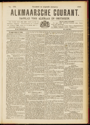 Alkmaarsche Courant 1907-06-08