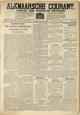 Alkmaarsche Courant 1934-08-21