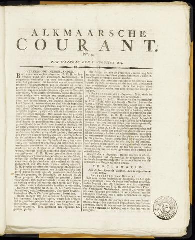 Alkmaarsche Courant 1814-08-08