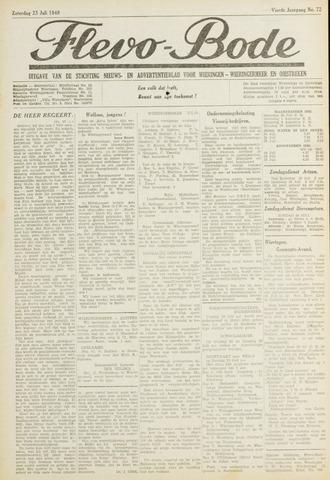 Flevo-bode: nieuwsblad voor Wieringen-Wieringermeer 1949-07-23