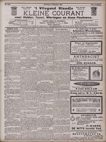Vliegend blaadje : nieuws- en advertentiebode voor Den Helder 1903-11-21