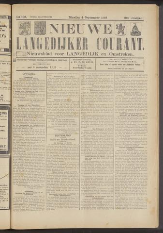 Nieuwe Langedijker Courant 1923-09-04