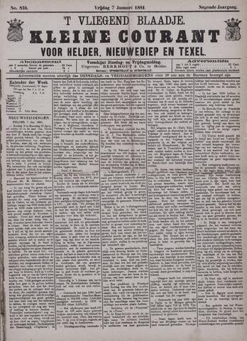Vliegend blaadje : nieuws- en advertentiebode voor Den Helder 1881-01-07