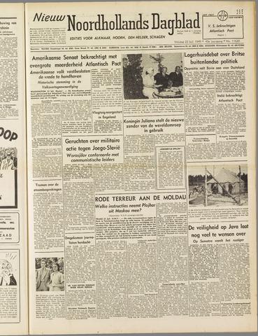 Nieuw Noordhollandsch Dagblad : voor Alkmaar en omgeving 1949-07-22