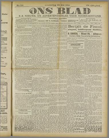 Ons Blad : katholiek nieuwsblad voor N-H 1919-05-22