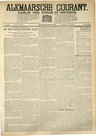 Alkmaarsche Courant 1933-11-11