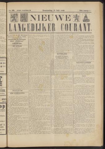 Nieuwe Langedijker Courant 1923-07-19