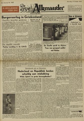 De Vrije Alkmaarder 1947-10-13