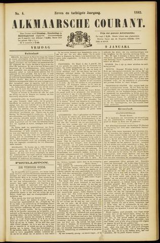Alkmaarsche Courant 1885-01-09