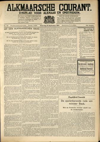 Alkmaarsche Courant 1934-09-15