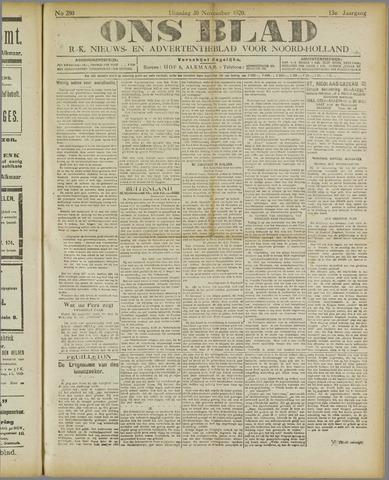 Ons Blad : katholiek nieuwsblad voor N-H 1920-11-30