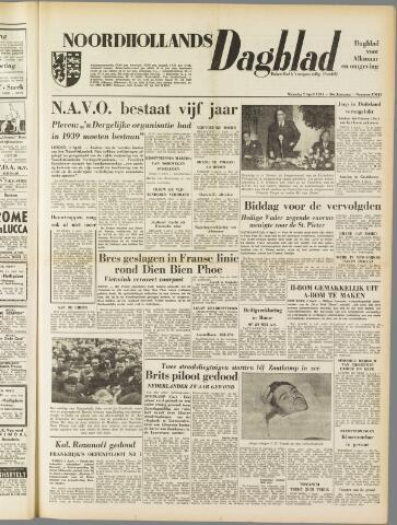 Noordhollands Dagblad : dagblad voor Alkmaar en omgeving 1954-04-05