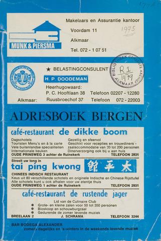 Adresboek van Bergen 1975-01-01