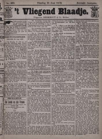 Vliegend blaadje : nieuws- en advertentiebode voor Den Helder 1879-06-24