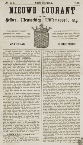 Nieuwe Courant van Den Helder 1865-12-02