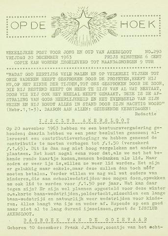 Op De Hoek, weekblad voor Akersloot 1963-12-20