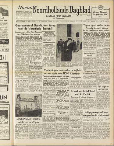 Nieuw Noordhollandsch Dagblad : voor Alkmaar en omgeving 1952-03-18