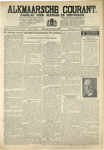 Alkmaarsche Courant 1937-12-06