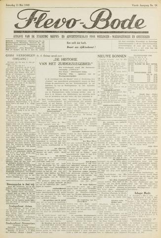 Flevo-bode: nieuwsblad voor Wieringen-Wieringermeer 1949-05-21