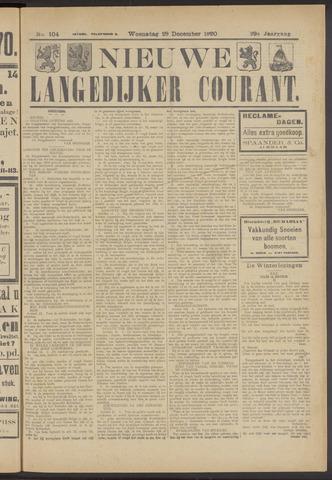 Nieuwe Langedijker Courant 1920-12-29