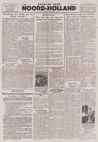 Dagblad Noord-Holland, Schager editie 1943-07-26