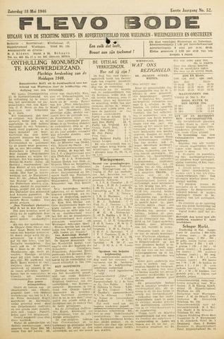 Flevo-bode: nieuwsblad voor Wieringen-Wieringermeer 1946-05-18