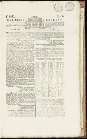 Alkmaarsche Courant 1843-04-24