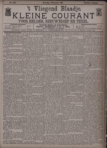 Vliegend blaadje : nieuws- en advertentiebode voor Den Helder 1887-11-09