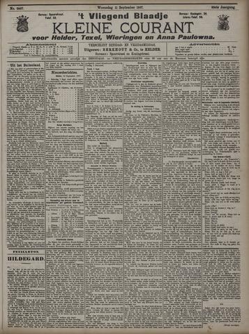 Vliegend blaadje : nieuws- en advertentiebode voor Den Helder 1907-09-11