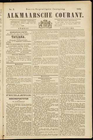 Alkmaarsche Courant 1889-01-04