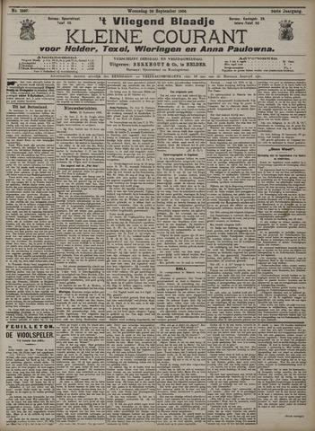 Vliegend blaadje : nieuws- en advertentiebode voor Den Helder 1906-09-26