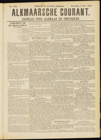 Alkmaarsche Courant 1905-10-07