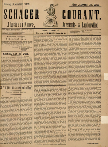 Schager Courant 1889